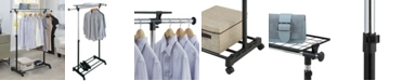 Organize it All Adjustable Garment Rack with Shelf
