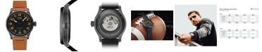 Mido LIMITED EDITION Men's Swiss Automatic Multifort Brown Horween® Leather Strap Watch with Interchangeable Black Strap 44mm - A Special Edition