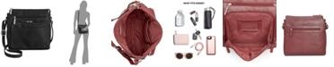 Giani Bernini Nappa Leather Front Zip Crossbody, Created for Macy's