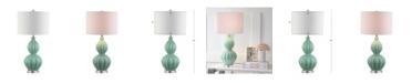 JONATHAN Y Faye Glass Led Table Lamp