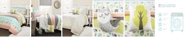 Lush Decor Owl Stripe 4-Pc Set Twin Quilt Set