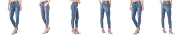 ZCO Nicole Miller New York Soho High-Rise Ankle Skinny Jeans with Studs