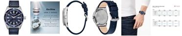 Citizen Eco-Drive Men's Brycen Blue Leather Strap Watch 43mm