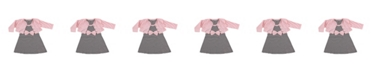 Hudson Baby Cardigan and Racerback Dress, 0-24 Months