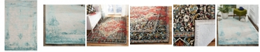 Safavieh Classic Vintage Red and Charcoal 5' x 8' Area Rug