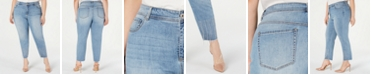 INC International Concepts INC Plus Size Tummy-Control Embellished Jeans, Created for Macy's