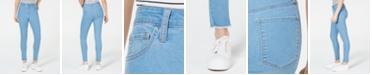 Tinseltown Juniors' High-Rise Raw-Hem Skinny Jeans