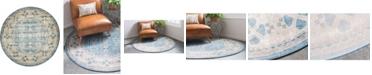 Bridgeport Home Bellmere Bel1 Light Blue 5' x 5' Round Area Rug
