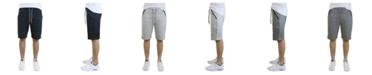 Galaxy By Harvic Verde Men's Cotton Blend Tech Fleece Shorts with Zipper Pockets