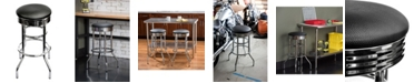 TRINITY Chrome Swivel Stool