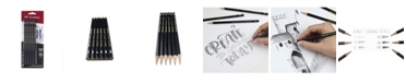 Tombow MONO J Drawing Pencil Set, 6-Pack with Eraser