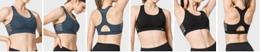 Yvette Compression Wirefree Mesh Sports Bra for Women - High Impact Support Racerback Workout Bra