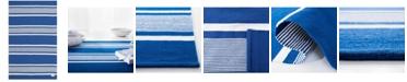 Lauren Ralph Lauren Hanover Stripe LRL2461C Blue 5' X 8' Area Rug