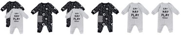 Mac & Moon Baby Boy and Girl 2-Pack Sheep Print Unionsuits