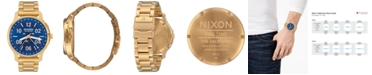 Nixon Men's Ascender Gold-Tone Stainless Steel Bracelet Watch 42mm