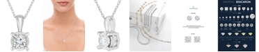 """TruMiracle Diamond Solitaire 18"""" Pendant Necklace (3/4 ct. t.w.) in 14k White Gold"""