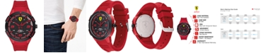Ferrari Men's Apex Red Silicone Strap Watch 44mm