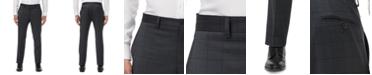 A X Armani Exchange Armani Exchange Men's Modern-Fit Dark Gray Windowpane Suit Separate Pants