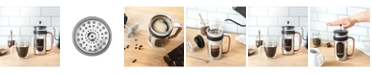Brim 8 Cup French Press with Wood Finish Handle