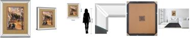"Classy Art Twilight Time in Paris by Marilyn Hageman Mirror Framed Print Wall Art, 34"" x 40"""