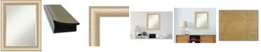 "Amanti Art Elegant Brushed Honey Framed Bathroom Vanity Wall Mirror, 22.75"" x 28.75"""