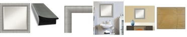 "Amanti Art Elegant Brushed Framed Bathroom Vanity Wall Mirror, 24.75"" x 24.75"""