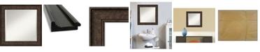 "Amanti Art Ridge Framed Bathroom Vanity Wall Mirror, 25.5"" x 25.50"""