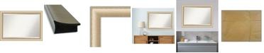 "Amanti Art Elegant Brushed Honey Framed Bathroom Vanity Wall Mirror, 40.75"" x 28.75"""