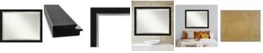 "Amanti Art Eva Silver-tone Framed Bathroom Vanity Wall Mirror, 45.25"" x 35.25"""