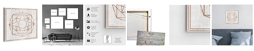 "Oliver Gal Whitewash Wood Geometric Octagon Canvas Art, 12"" x 12"""