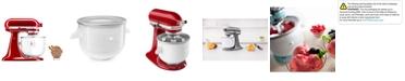 KitchenAid Ice Cream Maker Stand Mixer Attachment KICA0WH