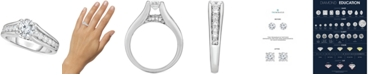 Macy's TruMiracle® Diamond Cathedral Engagement Ring (1-1/2 ct. t.w.) in 14k White Gold
