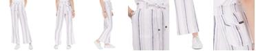 Sound/Style Striped Wide-Leg Beach Pants
