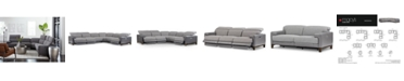 Furniture Madiana Fabric and Leather Sectional Collection