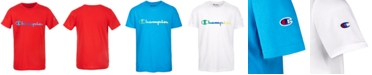 Champion Toddler Boys Ombré Logo Script T-Shirt