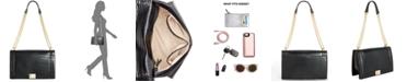 INC International Concepts INC Ajae Flap Croco-Embossed Crossbody, Created For Macy's