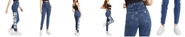 GUESS '90s Super-High Rise Logo Skinny Jeans