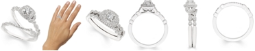 Macy's Diamond Vine-Inspired Bridal Set (3/8 ct. t.w.) in 14k White Gold