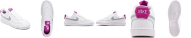 Nike Women's Court Vision Low Casual Sneakers from Finish Line