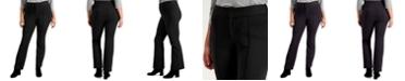 INC International Concepts INC Plus Size Ponté-Knit Flare-Leg Trousers, Created for Macy's