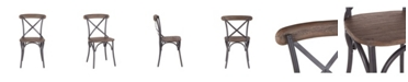 World Interiors Anderson Dining Chairs with Wood Seat, Set of 2