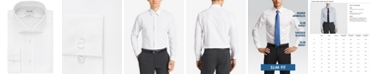 Calvin Klein Men's Slim-Fit Non-Iron Performance Spread Collar Herringbone Dress Shirt