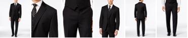Lauren Ralph Lauren Black Solid Big and Tall Suit Classic-Fit Separates