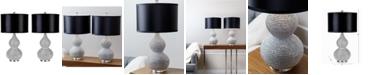 Abbyson Living Set of 2 Vito Sea Urchin Table Lamps