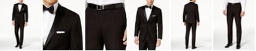 Perry Ellis Portfolio Solid Black Slim-Fit Tuxedo