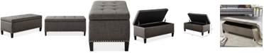 Furniture Catarina Fabric Storage Bench