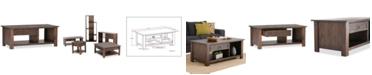 Simpli Home Oswen Rectangular Coffee Table, Quick Ship