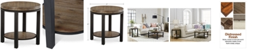 Furniture Canyon Round End Table, Created for Macy's