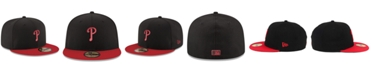 New Era Philadelphia Phillies Black & Red 59FIFTY Fitted Cap