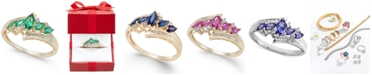 Macy's Emerald (1/2 ct. t.w.) & Diamond (1/10 ct. t.w.) in 14k Gold (Also in Sapphire, Tanzanite and Certified Ruby)